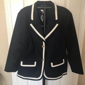 Talbots Woman (16w) Navy/White Blazer Jacket